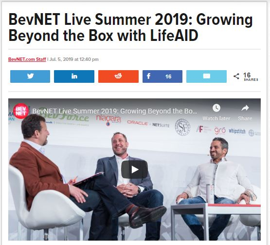 BevNET Live Summer 2019: Growing Beyond the Box with LIFEAID