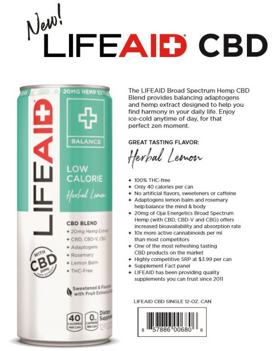Beverage Business Insider: LIFEAID Beverage Co. Enters CBD Space in 2019