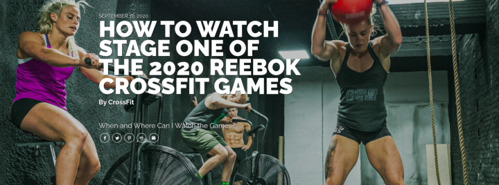 2020 CrossFit Games: Where & When to Watch